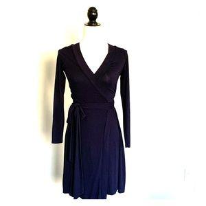 Banana Republic Navy Blue Wrap Dress